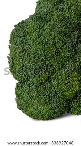Close-Up of Broccoli - Isolated