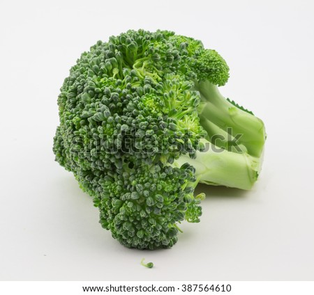 Close up of broccoli isolated on white