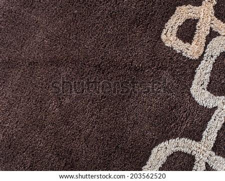 Close up of brown carpet texture - stock photo