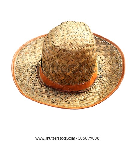 Close up of Brown hat isolated on white background.