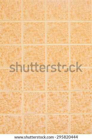 Close up of brown tiles background.