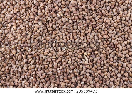 Close up of Buckwheat or Grechka in Russian.