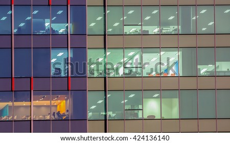 Close-up of building's exterior. - stock photo