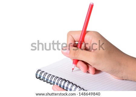 Close-up of business people writing text during business training  - stock photo