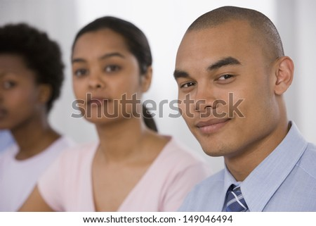 Close up of  businesspeople at meeting
