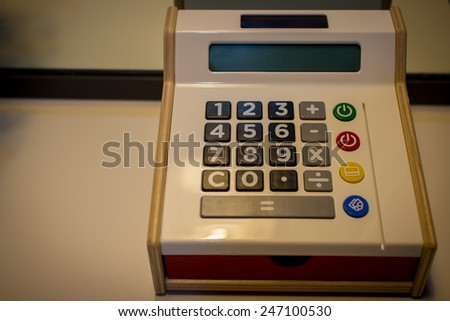 Close up of Calculator - stock photo