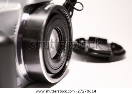 Close-up of camera - stock photo