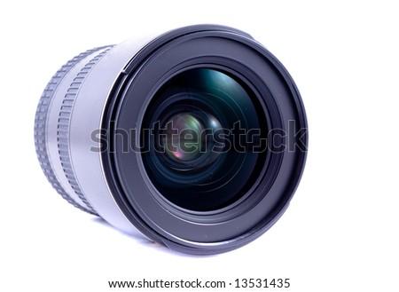 Close up of camera lens - stock photo
