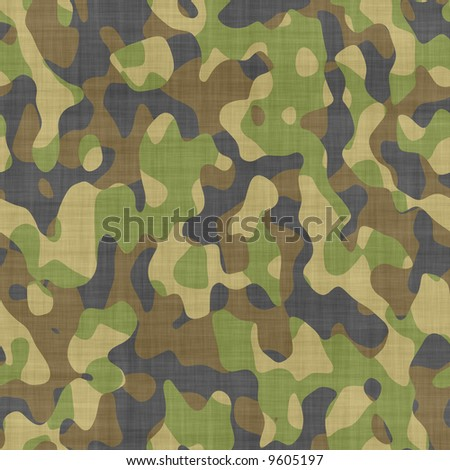 close up of camouflage pattern material or clothing - stock photo