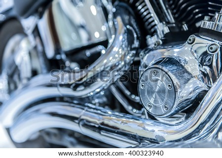 close up of Car Engine with metal. - stock photo
