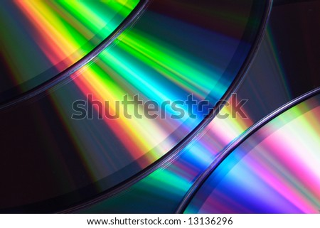 Close up of cd discs - stock photo