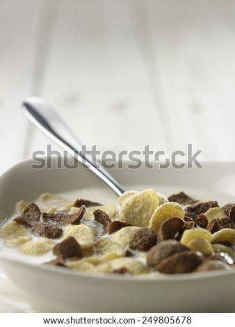 close up of cereal for breakfast