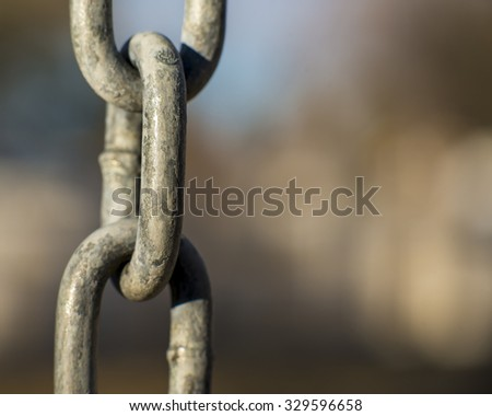 Close up of chain with blurred background - stock photo