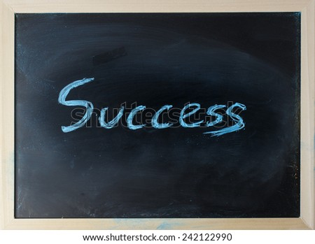 close up of chalkboard with success topic - stock photo