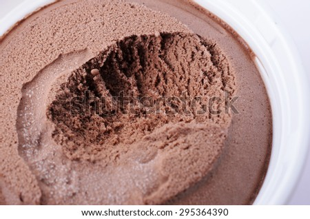 Close up of chocolate flavor ice cream to eat for foods background - stock photo