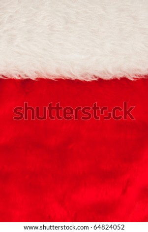 Close-up of Christmas hat. Background or texture - stock photo