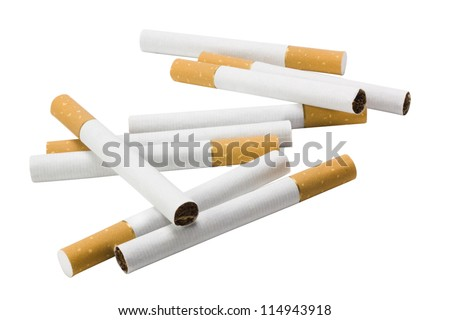 Close-up of cigarettes - stock photo