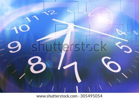 Close Up of Clock - stock photo