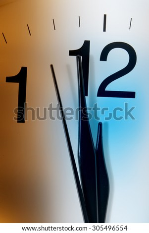 Close Up of Clock Hands  - stock photo