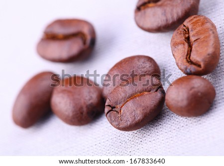 close-up of coffee beans. high resolution - stock photo