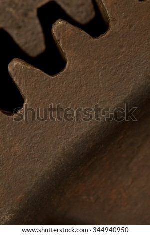 close-up of cogwheel or vintage machinery abstract background