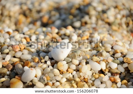 close up of colored sea pebbles - stock photo