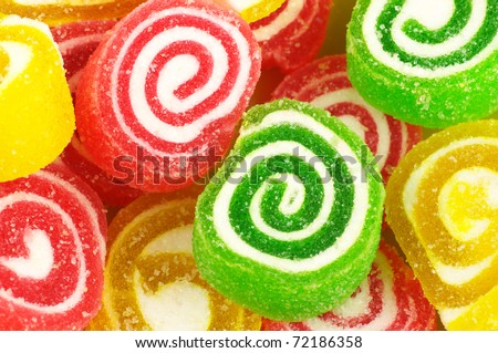 Close-up of colorful candy, full frame. - stock photo