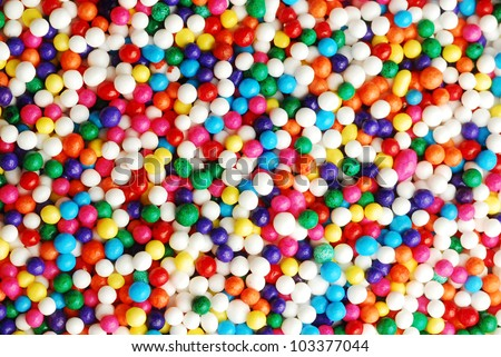 Close up of colorful candy sprinkles - stock photo