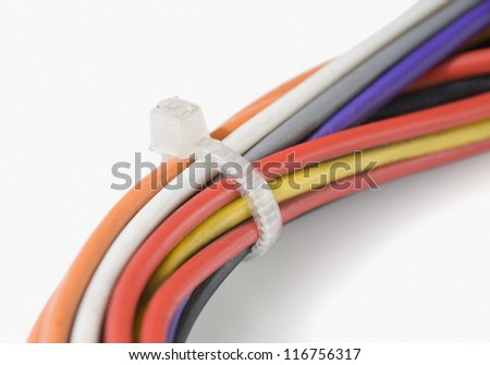 Close-up of computer wires