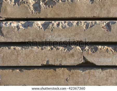 Close up of concrete plates surface on sunlight - stock photo