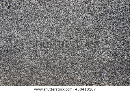 Close up of concrete road with small rock texture
