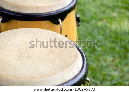 close up of Congas - stock photo