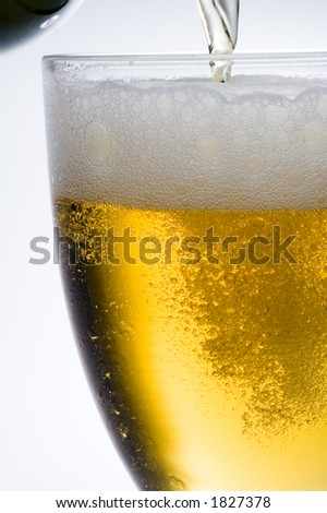 close up of Cool lager beer
