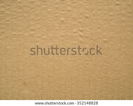 Close up of corrugated cardboard texture background.
