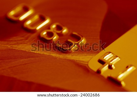 Close-up of credit card. - stock photo