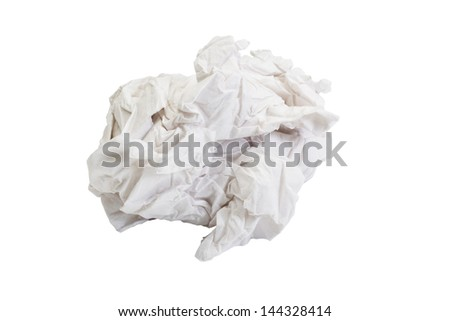 Close-up of crumpled toilet paper - stock photo