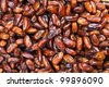 Close up of dates on market stand - stock photo