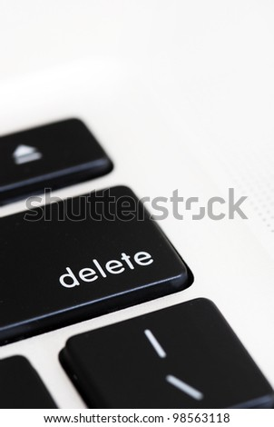 Close up of 'delete' computer key - stock photo
