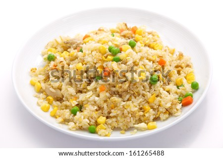 Close-up of delicious fried rice - stock photo