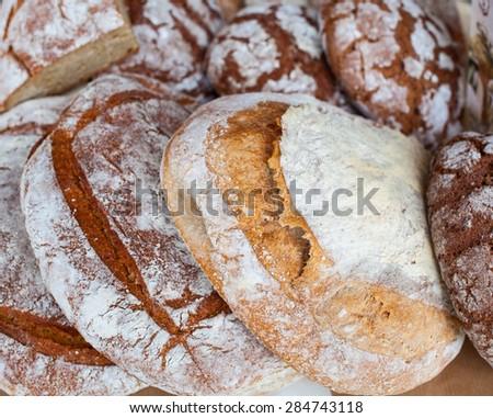 Close up of delicious Italian bread - stock photo