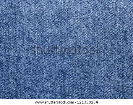 Close-up of denim cloth - stock photo