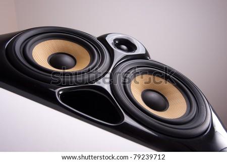 Close Up of Design Speaker - stock photo