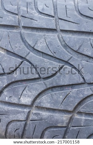 Close-up of detail of a car tyre - stock photo
