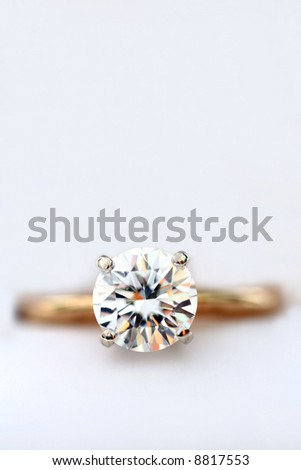 Close up of Diamond Ring with Copy Space