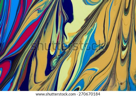 close up of different color oil paint - stock photo