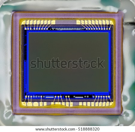 Close-up of digital camera sensor.