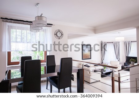 Close-up of dining table in elegant interior