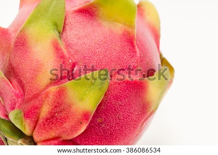 Close up of Dragon fruit, pitaya, of Thailand
