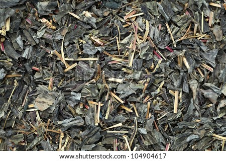 Close up of dry tea leaves