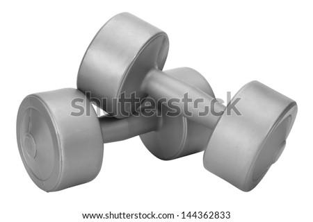 Close-up of dumbbells